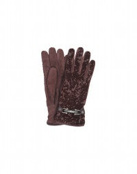 SNATCH: Burgundy velvet devoré gloves