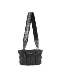 COFFER: Black quilted shoulder bag