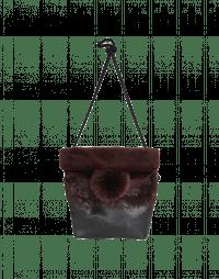 LUCRE: Burgundy eco-fur bag