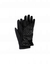 DELVE IN: Black tech jersey and velvet gloves