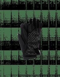 DELVE IN: Guanti in velluto e jersey tecnico nero