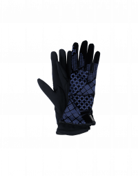 DELVE IN: Navy tech jersey and velvet gloves