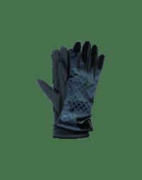 DELVE IN: Guanti in velluto e jersey tecnico verde