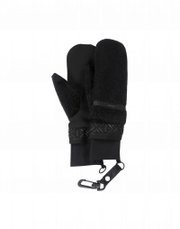 KNOCKOUT: Eco-fur mittens with embossed wrist band