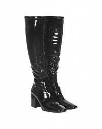 PURDEY: HIGH tech black patent knee boots