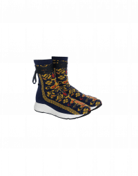ZING: Multi colour stretch jersey sock-boot