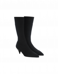 LIFT-OFF: Tech- stretch knit ankle boots with kitten heel