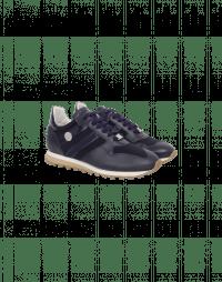 NEW-FRANTIC: Sneakers blu navy in nylon e pelle