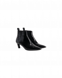 PRECISION: Pull-on patent ankle boots