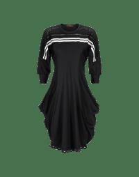 TRIPTYCH: Panelled jersey dress