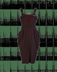 CONFIDENCE: Burgundy contemporary pinafore-strap dress