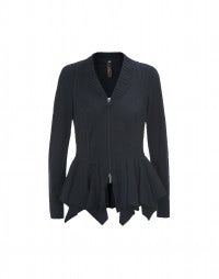 TELLTALE: Navy blue diamond hem jacket