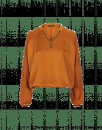CONSIDER: Camicia in raso tecnico con collo in costina