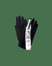 PINCH: Velvet gloves with metallic print