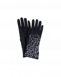 QUIVER: Tech twill gloves with metallic print