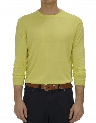 OBSERVE: Ultra-light wool chartreuse green sweater