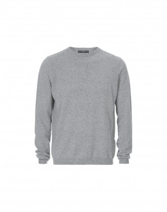 HAMISH: Maglione in cashmere grigio