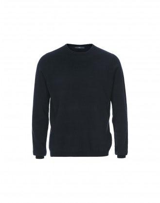 HAMISH: Maglione in cashmere blu navy