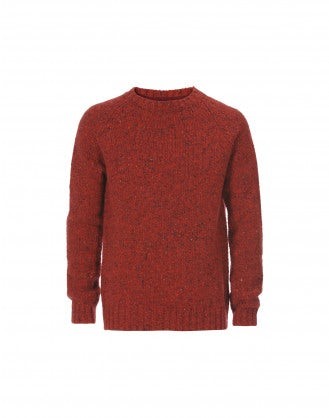 FRASER: Maglione rosso Donegal