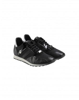 ERIK: Sneakers in pelle nera
