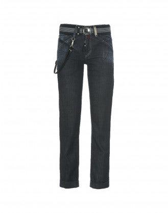 CADET: Deep dark wash straight leg jeans
