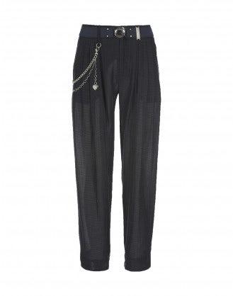 LANCER: Blue light weave pants