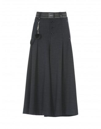 GAFFER: Culotte in jersey gamba ampia blu navy