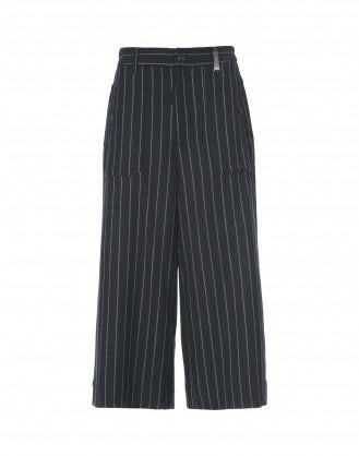 BELLBOY: Culotte ampie in lana blu navy
