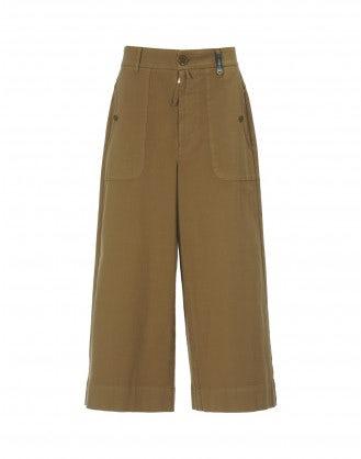 BELLBOY: Pantaloni svasati color caramello dalla linea ampia