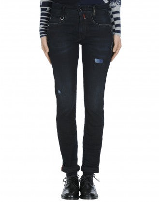"ASHBY: Jeans stretch a gamba dritta ""midnight blue"""
