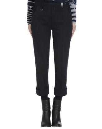 CHROMA: Straight leg side opening pant