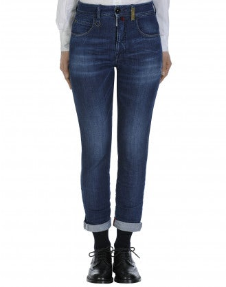 OUR-GIRLS: Jeans blu a gamba stretta