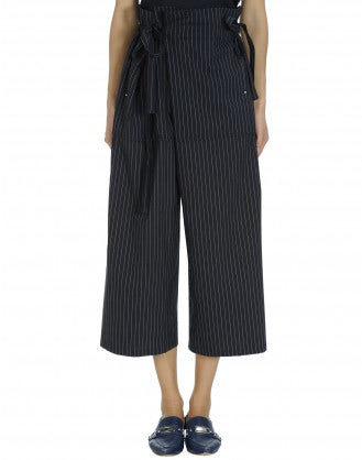 RUMBLE: Wrap-and-tie pinstripe pant