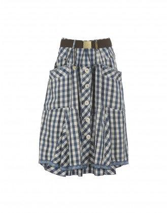 CHARADE: Gingham skirt