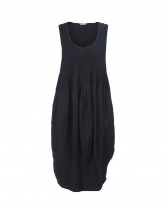 PIOUS: Dark blue multi-panel balloon dress