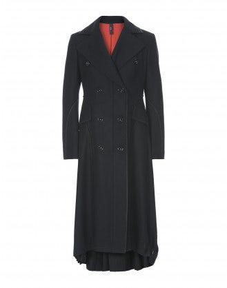 CAVALIER: Cappotto lungo in lana navy