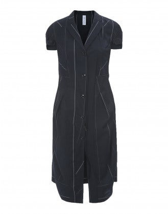 BIDDY: Virgin wool short sleeve overcoat