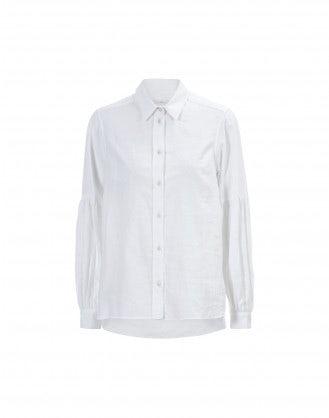 SYLUAN: Camicia bianca in cotone ricamato