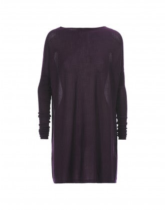 EBONY: Mulberry cashmere-silk jersey top