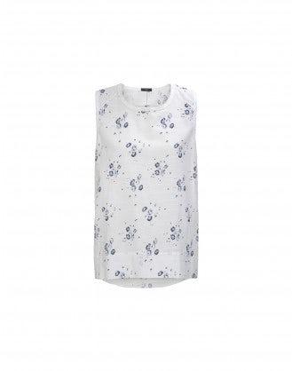 STANZA: Cornflower print top