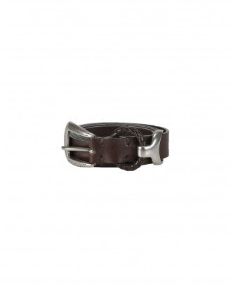 BOLT: Western style belt with braided loop