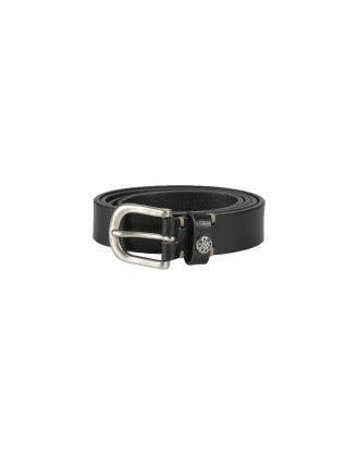 CANTER: Cintura in pelle nera