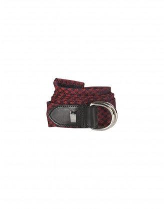 PELHAM: Cintura cravatta rossa in pura seta