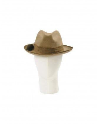 RAKISH: Cappello Fedora marrone tabacco