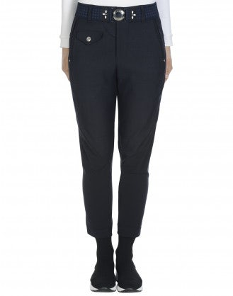IN-MOTION: Pantaloni blu navy affusolati