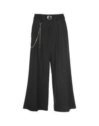GIULIA: Pantaloni ampi gessati