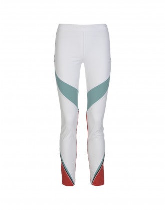 "VORTEX: White, grey, mint and cherry ""athleisure"" pant"