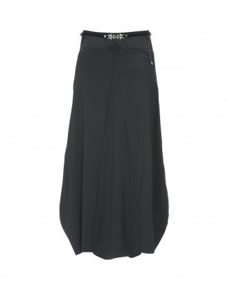 CHORAL: Navy blue long skirt with closed hem
