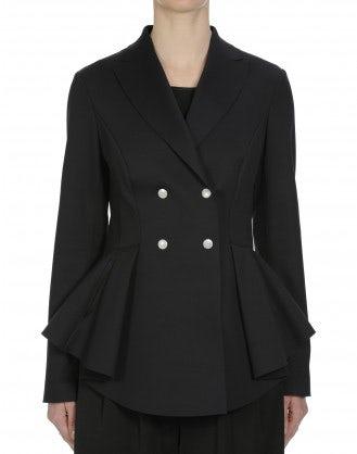 HONOUR: Black laser cut jacket