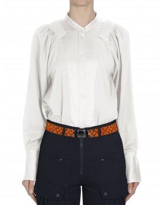 VIRTUAL: Camicia opaca & lucida in raso tecnico